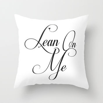 Lean on Me Throw Pillow by Uma Gokhale