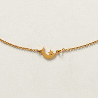 Ethereal Necklace by Anthropologie Gold One Size Necklaces