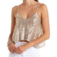 Sequin Swing Crop Top