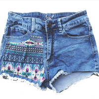 High Waisted Tribal Shorts | Wild Daisy