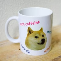Wow Such Doge Mug - Shibe Meme Coffee Mug Gift Internet Nerd Geek Shiba Inu So Much Such Very Funny Cute dishwasher safe microwave