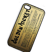 iPhone Case Gold Ticket iPhone Hard Case / by TheCuriousCaseLLC