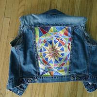 Made to Order Custom Vintage Denim Vest With by chasesomeclouds
