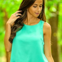 Light The Spark Crop Top-Spearmint