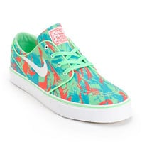 Nike SB Zoom Stefan Janoski Green Glow, Light Crimson, Turbo Green Shoes