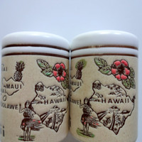 Vintage Hawaii Salt and Pepper Shakers 1960s
