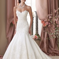 Scalloped Mermaid Gown by David Tutera