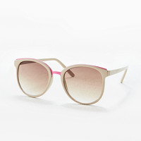 Neon Bridge Sunglasses in Taupe - Urban Outfitters