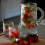 Strawberry mint spritzer.