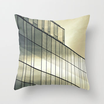 Silver Sliver Throw Pillow by RichCaspian | Society6