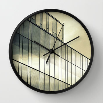 Silver Sliver Wall Clock by RichCaspian | Society6