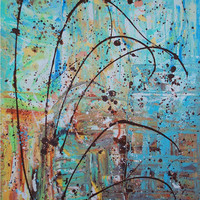 CITY PARK Abstract Expressionism 30 X 40 by brigettamargarietta