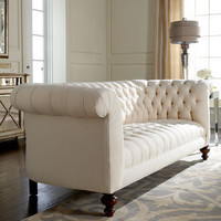"Old Hickory Tannery ""Ellsworth"" Tufted Sofa - Horchow"