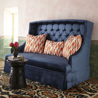 "Haute House ""Rae"" Velvet Sofa & ""Duece"" Pillows - Horchow"