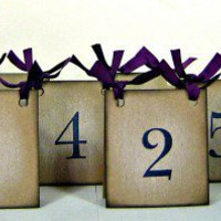 Table numbers wedding tents set of 10 purple ribbon | suzyssentiments - Wedding on ArtFire
