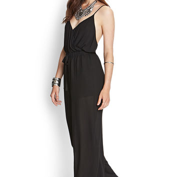 Crossback Surplice Jumpsuit