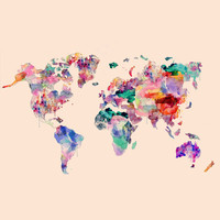 World map Art Print by LyssXGold | Society6