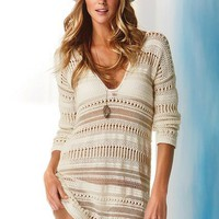 Victoria&#x27;s Secret - Cotton Crochet Tunic Sweater