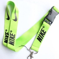 Nike Lanyard Key Chain ID Strap Lime Green with  Black ☆FREE USA SHIPPING ☆NEW
