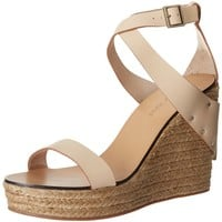 See By Chloe Women's Cross Strap Espadrille Wedge Sandal