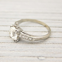 1.09 Carat Old European Cut Diamond Vintage Solitaire Engagement Ring | Shop | Erstwhile Jewelry Co.