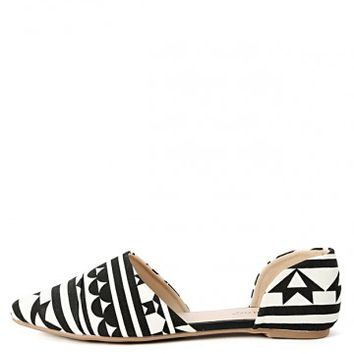 Bamboo Object-49 Tribal D'orsay Flats | MakeMeChic.com