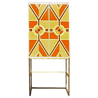 A Custom Hand-painted Bar Cabinet by Tommi Parzinger, USA, c.1950