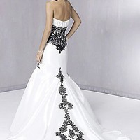 Buy An Elegant Taffeta Strapless Mermaid Wedding Dress