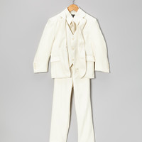 Off-White Five-Piece Suit Set - Toddler & Boys | something special every day