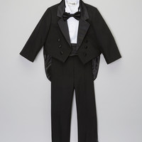 Black & White Five-Piece Tuxedo - Infant, Toddler & Boys | something special every day