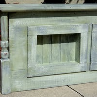 Window Cornice Headboard Or Primitive Display by TheSavvyShopper1