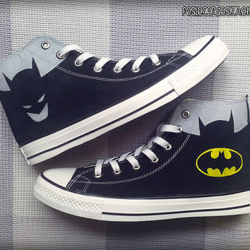 Batman Custom Converse / Painted Shoes