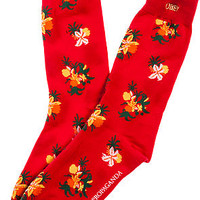 The Tropical High Socks in Red Floral