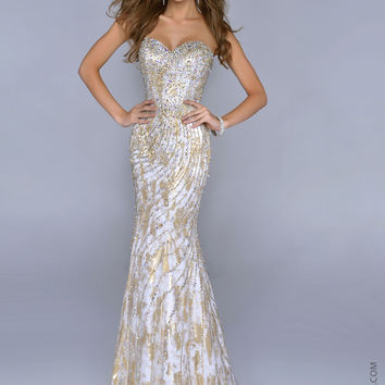 Nina Canacci 9000 -Gold Sweetheart Mermaid Prom Dresses Online