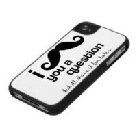 I mustache you a question iPhone case