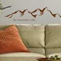 Mountain Landscape Decal Sticker Wall Art Graphic Alps Climbing Mount | dabbledown - Housewares on ArtFire