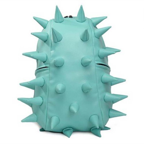 1x Fashionable Mint-green Unisex Women Men Hedgehog Spike Punk Backpack Kid Spiky College Tablet Campus School Bag Camera Bag