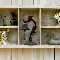 Wall Shelf Wood Wooden Cubby Shelving by honeystreasures
