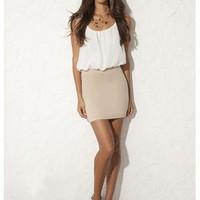 CHIFFON 2-IN-1 BODYCON DRESS | Body Central