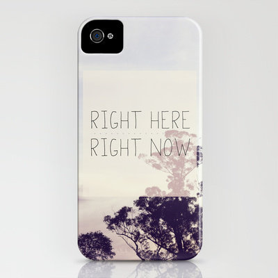 Right Here Right Now iPhone Case by Galaxy Eyes | Society6