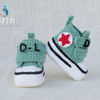 baby sneakers baby boy sneaker baby girl sneakers crib sneakers baby shoes name shoes baby crochet booties