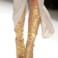 Shoes: gold golden golden gladiator sandals gold gladiator sandals gladiator sandals golden