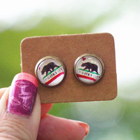California Graphic Earrings