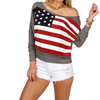 Americana Party Dolman Top