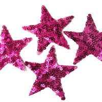 5 PCS Stars Applique with Sequins