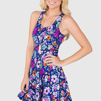 Denise Floral Dress - Purple