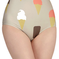 ModCloth Vintage Inspired High Waist Forever Yum Swimsuit Bottom
