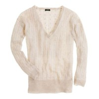 Linen V-neck cable-knit sweater - sweaters - Women's new arrivals - J.Crew