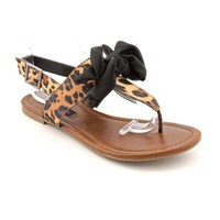 Material Girl Women's Swift Dress Sandals in Leopard