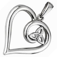 Handcrafted 925 Sterling Silver Trinity Knot Heart Pendant | hypmjewellery - Jewelry on ArtFire